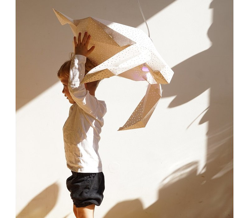 Vasili Lights Origami hanglamp grote schildpad - wit