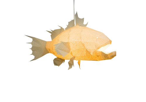 Vasili Lights Giant Lapu Lapu Origami Lamp - white