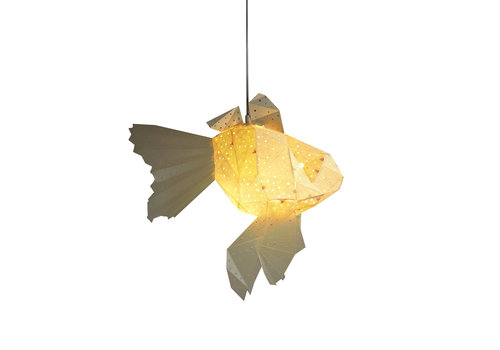 Vasili Lights Origiami hanging lamp baby goldfish - white
