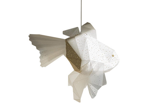 Vasili Lights hanging lamp mother goldfish - white