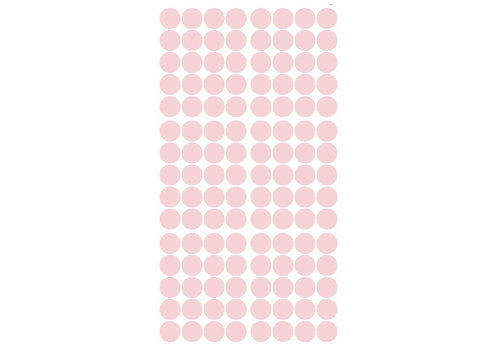 Pom le Bonhomme 120 wall stickers dots pink 3.5 cm