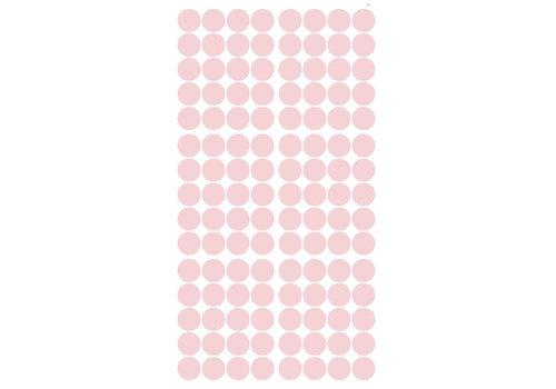 Pom le Bonhomme 120 Wandaufkleber Punkte rosa 3,5 cm