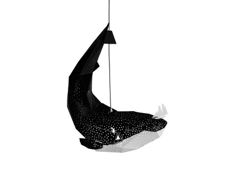 Vasili Lights hanging lamp whale - black