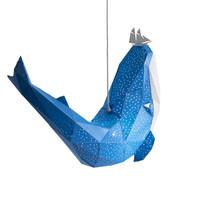 Vasili Lights hanglamp walvis - blauw
