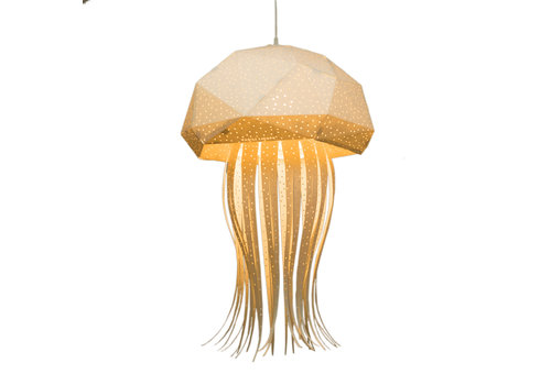Vasili Lights Origami hanging lamp large jellyfish - white