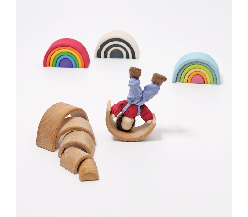 Grimm's Toy's small rainbow natural