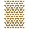 Lilipinso muurstickers hartjes goud