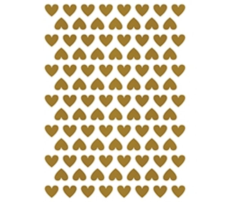 Lilipinso wall stickers hearts gold