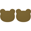 Liewood placemat Gada placemat 2-pack Bear olive