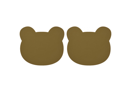 Liewood placemat Grada placemat 2-pack Bear olive