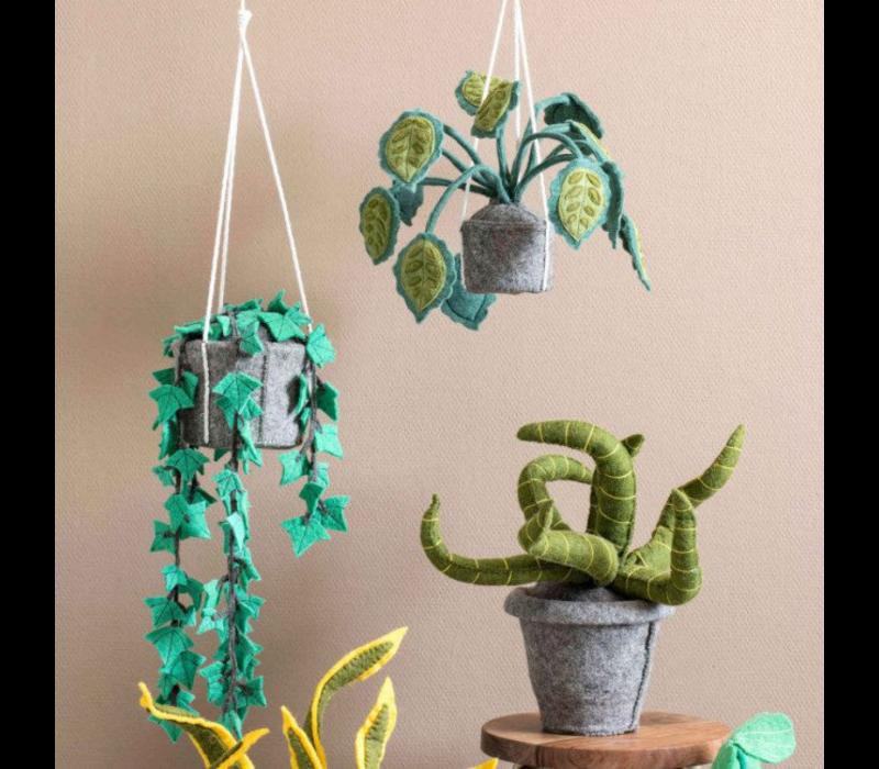 KidsDepot Sanseveria groen decoratie plant vilt