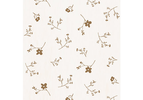 Bibelotte wallpaper sea of flowers large mustard