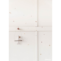 Bibelotte muurstickers Confetti terra/poederroze