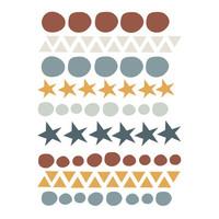 Bibelotte wall stickers Confetti terra / denim blue