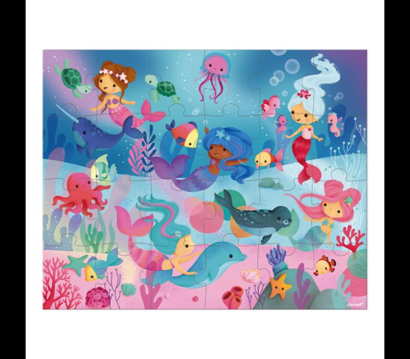Janod Puzzle - Meerjungfrauen