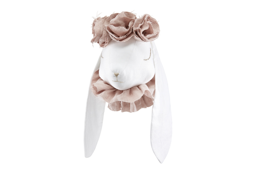 Love me Decoration animal head Rabbit - Powder flowers