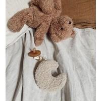 Dappermaentje Schnuller Stoff Teddy Mond beige