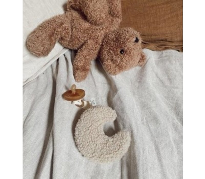 Dappermaentje speendoekje Teddy maan beige