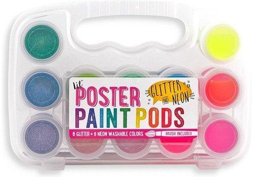 Ooly Paint Set mit Pinsel Neon und Glitzer