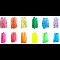 Ooly Verfsetje met penseel neon en glitter