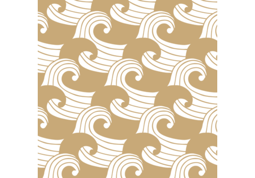 Swedish Linens hoeslaken WAVES warm sand - diverse maten