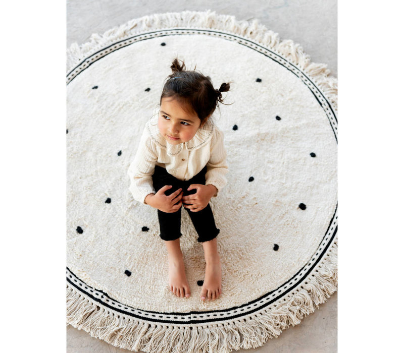 Tapis Petit carpet Anna dots cream - 110x110