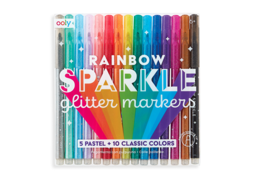 Ooly rainbow glitter markers