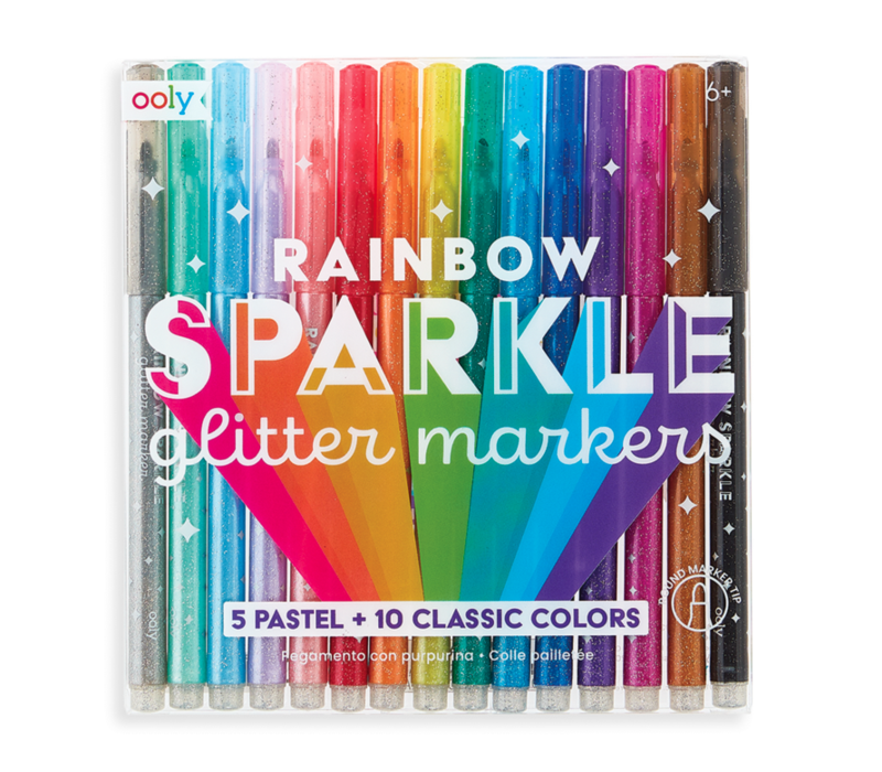 Ooly regenboog glitter markers