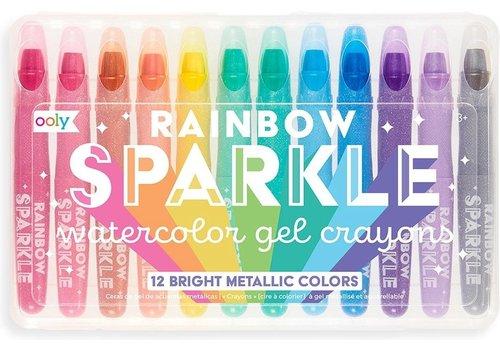 Ooly rainbow glitter gel crayons 'sparkle'