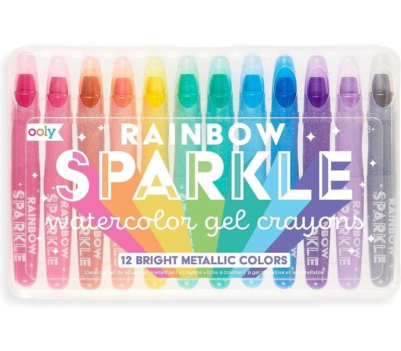Ooly regenboog glitter gelkrijtjes 'sparkle'