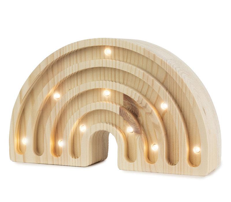 Kleine Lichter Regenbogen Mini Holz