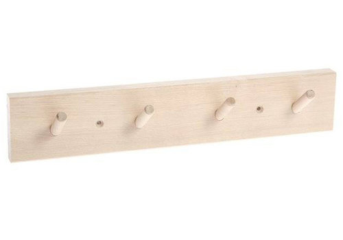 Iris Hantverk coat rack with 4 hooks