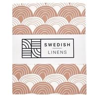 Swedish Linens hoeslaken Terracotta pink - diverse maten