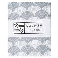 Swedish Linens fitted sheet, Gray - various sizes