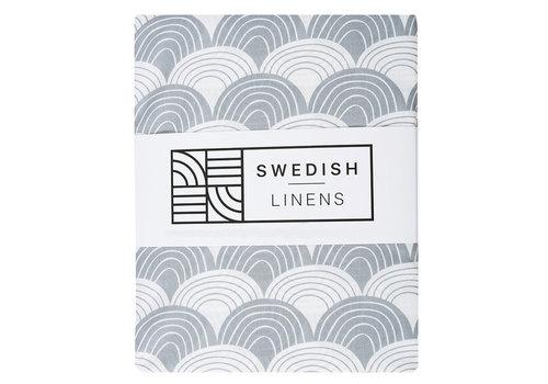 Swedish Linens Rainbows Spannbettlaken quietschgrau - verschiedene Größen