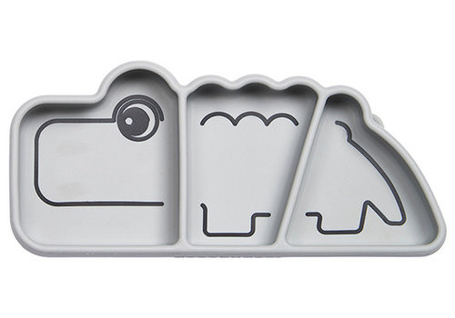 Done by Deer silicone snack plate Croco gray