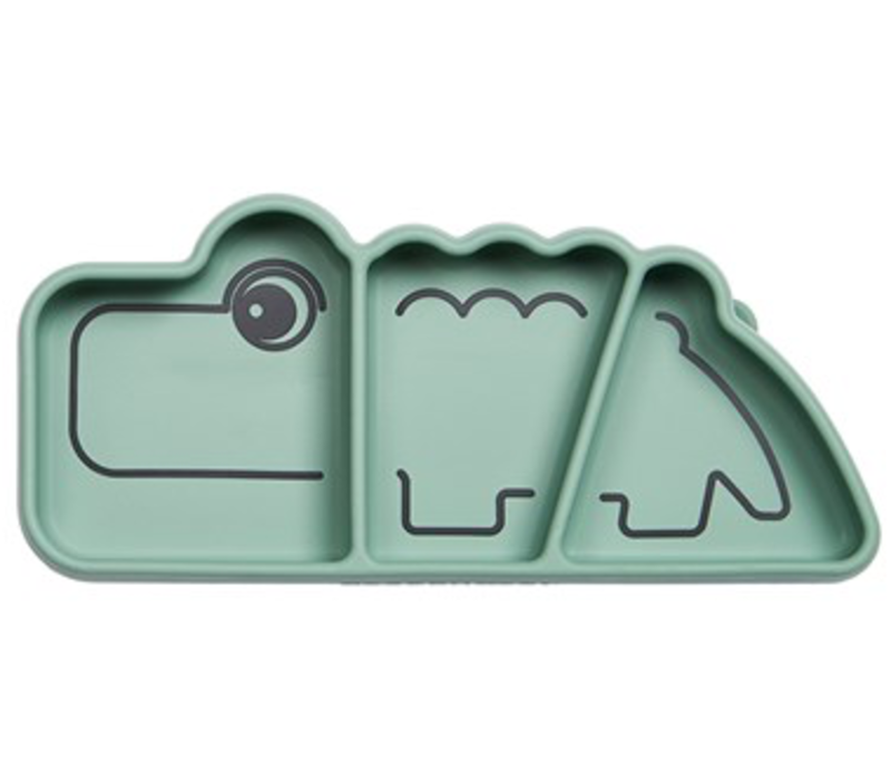 Done by Deer silicone snack plate Croco green