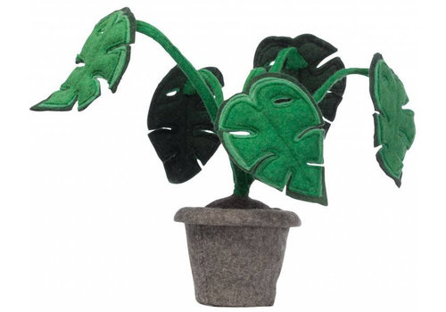 KidsDepot Monstera decoratie plant vilt