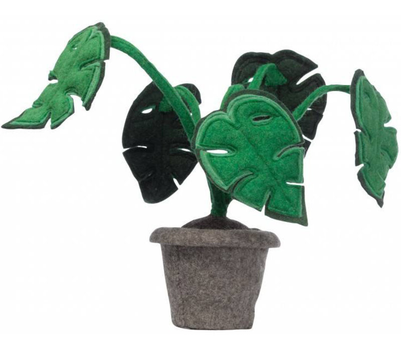KidsDepot Monstera decoration plant felt