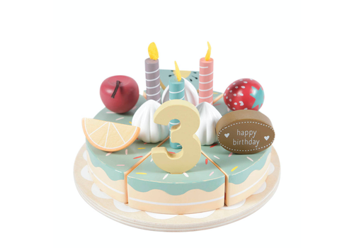 Little Dutch Wooden birthday cake XL - 26 pieces