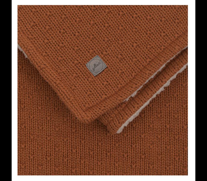 Jollein blanket teddy bliss knit caramel 100x150