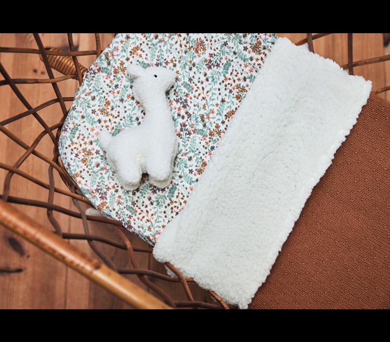 Jollein deken teddy bliss knit caramel  100x150