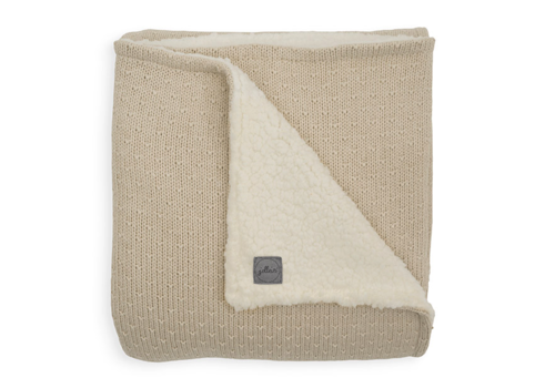 Jollein blanket teddy bliss knit nougat 100x150