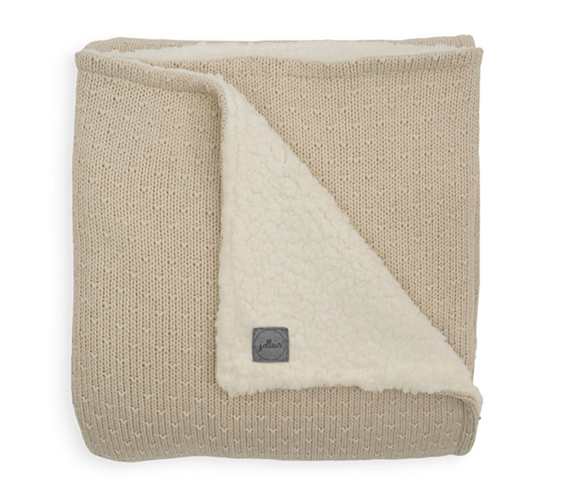 Jollein blanket teddy bliss knit nougat 100x150