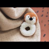 Jollein deken teddy bliss knit nougat  100x150