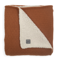 Jollein blanket teddy bliss knit caramel 75x100