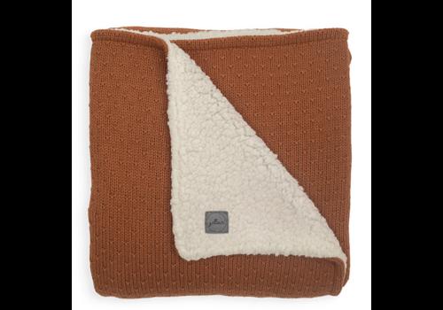 Jollein blanket teddy bliss knit caramel 75x100