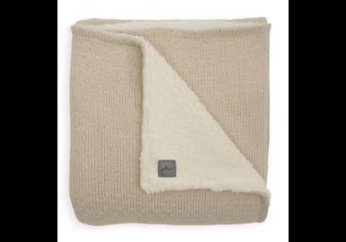 Jollein deken teddy bliss knit nougat  75x100