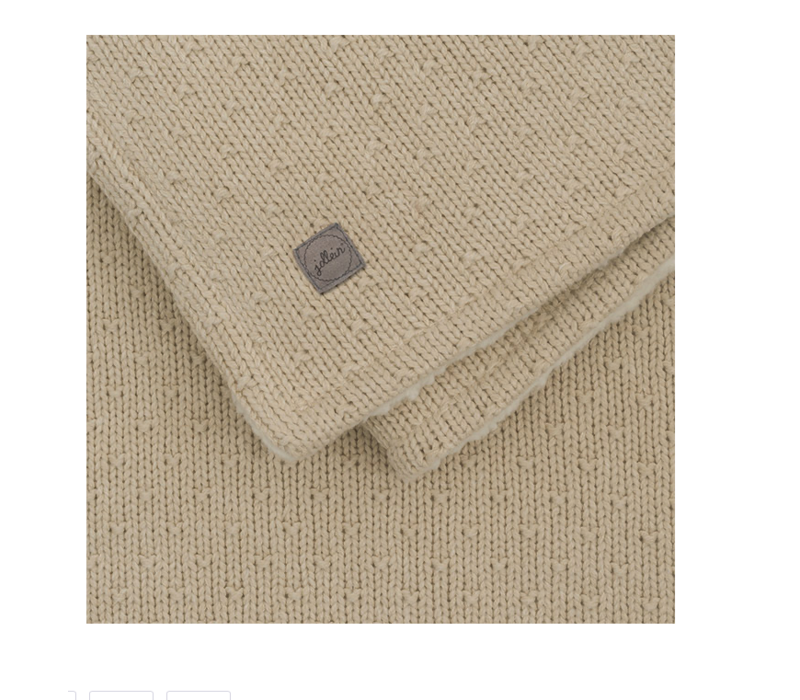 Jollein deken teddy bliss knit nougat  75x100