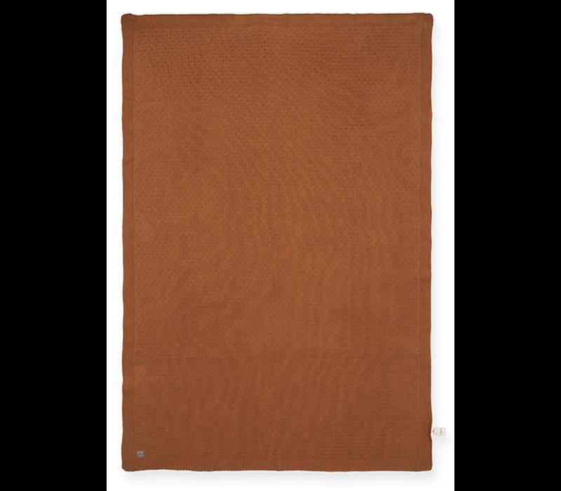 Jollein deken bliss knit caramel  100x150